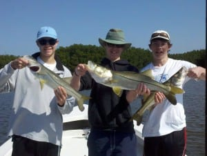 April triple hook up snook