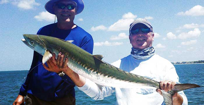 tampa nearshore fishing charters clients with kingfish