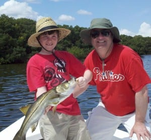 Father and Son with a nice Snook